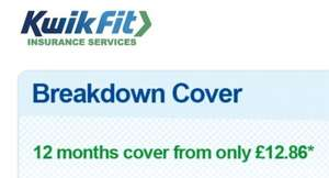 Breakdown Cover from only £12.86 for 12 months + TCB / Quidco @ Kwik-Fit Insurance Services