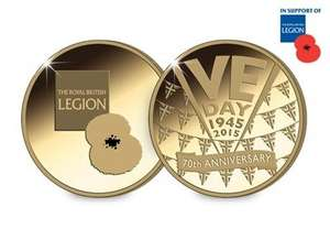 Claim your Official VE Day Medal for FREE (+ £1.50 p&p) and support The Royal British Legion.
