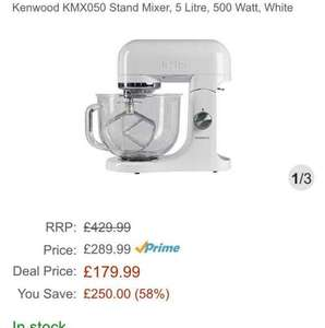 Kenwood Kmix KMX050 in White £179.99 Amazon UK Lightning Deal