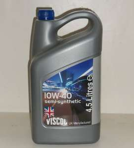 10W40 Semi-synthetic motor oil 4.5 litres £9.99 at Home Bargains