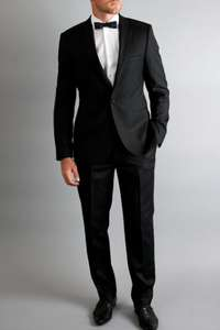 Ventuno 21 black slim fit dress suit WAS £199.00 NOW £49.00 (Size 50R) @ Moss Bros