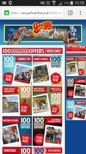 Loads of different offers for Gullivers World at all 3 locations. Up to 93% off tickets.