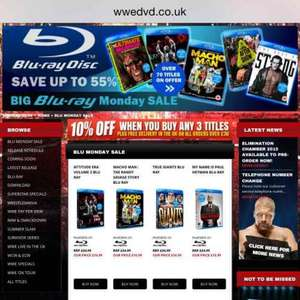 Bluray sale at wwedvd.co.uk one day only