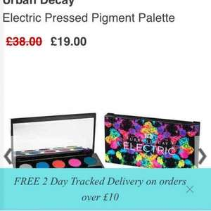 urban decay electric pressed pigment palette inc P&P 19.00 @ BeautyBay