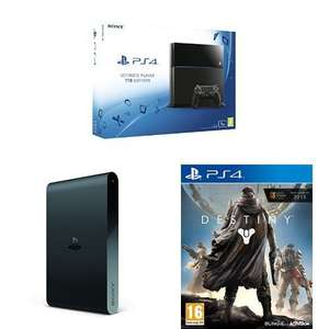 PS4 1TB + PlayStation TV + Destiny + 3 months PSP + Ultra Street Fighter for £329 @ Amazon (Prime members)