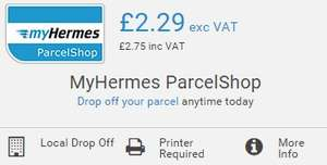 myHermes Parcelshop - £50 compensation for 3p per parcel over the Parcel2Go price