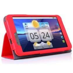 Leather-Style Stand and Type Case for Tesco Hudl 2 - Red £2.98 delivered @ www.gearzap.com