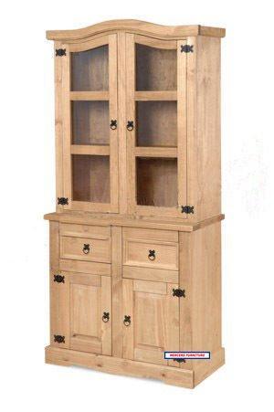 £195 Corona pine Glazed 2 door dresser buffet hutch @ Ebay / mercersfurniture1996