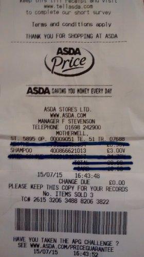 Alpecin Caffeine Shampoo - 250ml + 40 ml Caffeine Liquid £3.00 @ Asda
