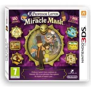 Professor Layton and the Miracle Mask 3DS Game £4.98 @ Argos