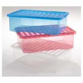 12 x plastic storage boxes.32 litre at Tesco direct - £30 using code