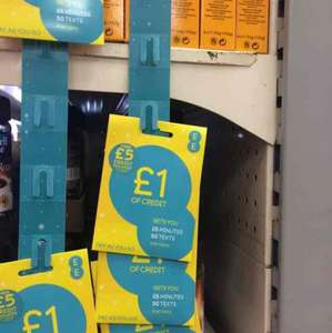 EE pay as you go sim with £5 credit £1 @ Poundland