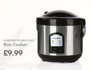 LIDL Rice Cooker (Silvercrest) - £9.99 - July 23rd - Includes Steam Cooking Attachment for Fish, Vegetables etc.