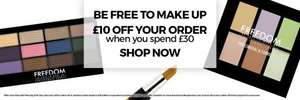 Spend £30 At Freedom Makeup, Get £10 Off, Plus 20% Off Code For 1st Orders, £12.30 Delivered