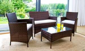 4 Piece Rattan garden furniture set - @ ijinteriors on eBay - £109.90 delivered