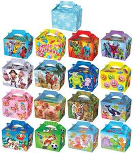10 Themed Party Boxes (18 Designs) Lunch Meal Gift Bag £2.85 delivered at eBay/Kids-Parties