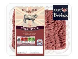 100% British Beef Mince 500g - £1.55 @ LIDL