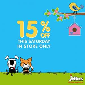 Jollyes pet store 15% off today only