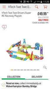 vtech toot toot drivers super RC raceway playset. Argos. Half Price now £49.99