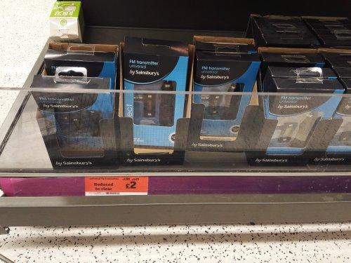 universal fm transmitter £2 instore @ Sainsburys