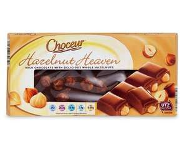 Aldi Choceur Hazelnut Heaven Bar 100g for only 49p