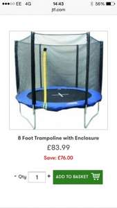 JTF.com 8ft trampoline with enclosure- only £83.99 including delivery