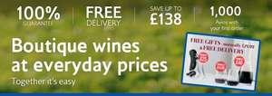 BA Wine Club / Laithwaites Wine + Freebies (12 bottles of wine, a decanter, two glasses, a corkscrew, 1000 avios) for £63.79