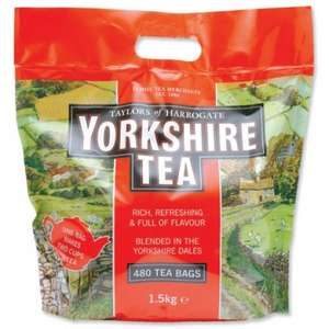 yorkshire tea bags 480+ 50% free= 720 for £7.89 @ Costco