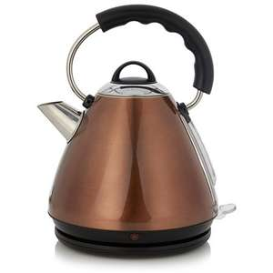 asda fast boil pyramid kettle in copper. reduced from £25 to £15 plus free click and collect