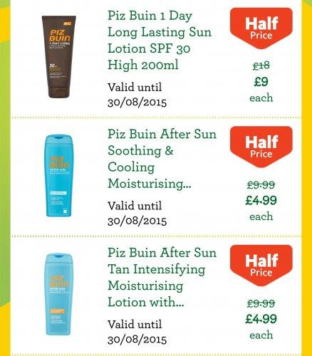 piz buin half price £4.99 @ Morrisons