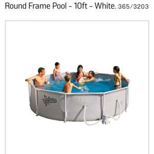 Round frame 10 ft pool half price £75 at argos