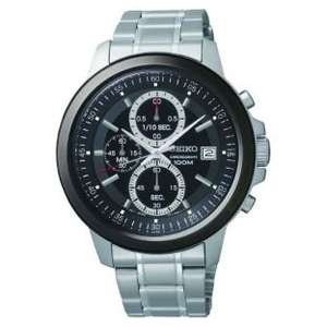 Seiko mens black dial chrono bracelet watch £79.99 @ argos