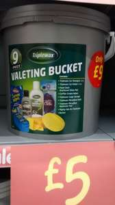 Triplewax 9 Piece Valeting Gift Bucket Set - £5 @ Asda In store