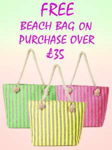 Free beach bag on orders over £35 with TENNER store