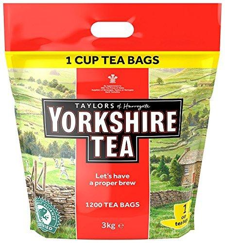 Yorkshire Tea Traditional 1200 One Cup Tea Bags 3 Kg -£16.00 (Prime) £20 (Non Prime) (£15.20 S&S) - Amazon
