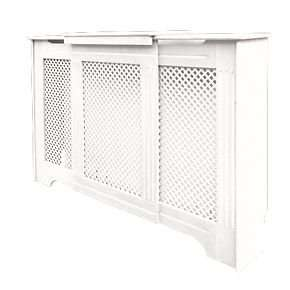 Victorian Adjustable Radiator Cabinet/Cover in White only £40 at Screwfix - 60% off