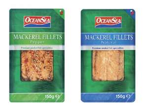 OCEAN SEA Smoked Mackerel Fillets (150g) Choose from Pepper or Natural ONLY £1.05 @ Lidl