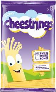 Cheestrings Cheddar or Twisted (8 x 20g) was £3.00 now £1.50 @ Tesco