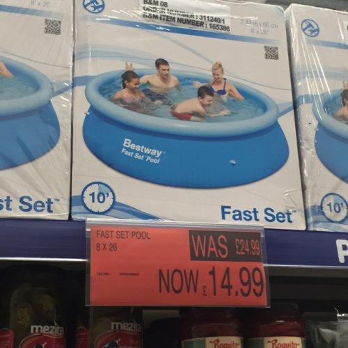 """Bestway fast set pool 8' x 26"""" £14.99 down from £24.99 @ B&M"""
