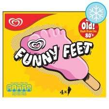 Wall's Funny Feet Strawberry Ice Cream Lolly  x4 reduced to clear 50p @ Tesco instore