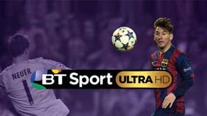 BT Sport Ultra HD package : 1TB Ultra HD YouView+ Box : 47 Premium Channels With Europe's First Live Sports Channel in Ultra HD + (up to) £500 off an LG 4K UHD TV. £15 per month via BT TV (BT Infinity Required)