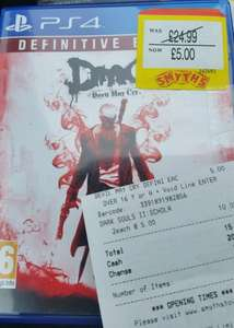 Devil May Cry Definitive Edition PS4/Xbox One £5 Instore @ Smyths