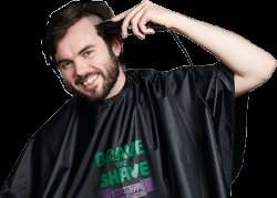 Free Hairdresser's Cape when you Brave the Shave with Macmillan Cancer Support