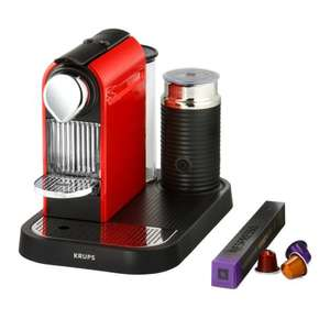 Nespresso CitiZ and Milk by Krups XN730540 Coffee Machine (Inc Aeroccino) - Fire Engine Red - £99.99 @ Amazon.co.uk