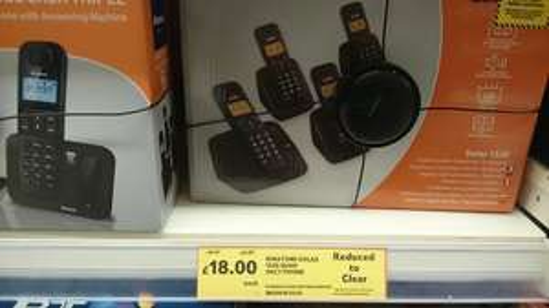 Binatone Solar 1520 Quad  Dect Phone £18 @ Tesco,Sheerness