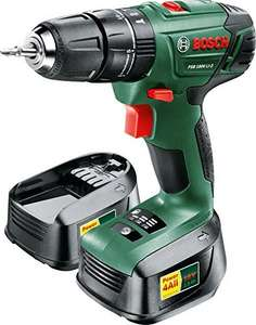 Bosch Cordless Lithium-Ion Hammer Drill Driver ( PSB 1800 LI-2) with 2 x 18 V Lithium-Ion Batteries £68 Amazon