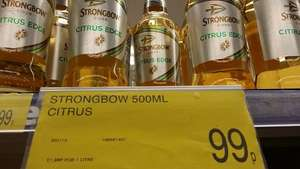 Strongbow Citrus Edge Cider 500ml only 99p at B&M