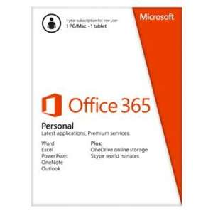 Argos: Microsoft Office 365 Personal - 1 User now £19.99