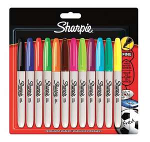 Sharpie Fine Permanent Marker Assorted Colours - Pack of 12 only £5 (Add On) @ Amazon