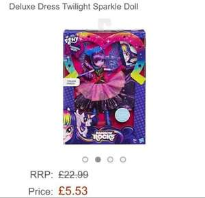 My Little Pony Equestria Girl Dolls was £22.99 now £5.53  (Prime) / £8.83 (non Prime) @ Amazon